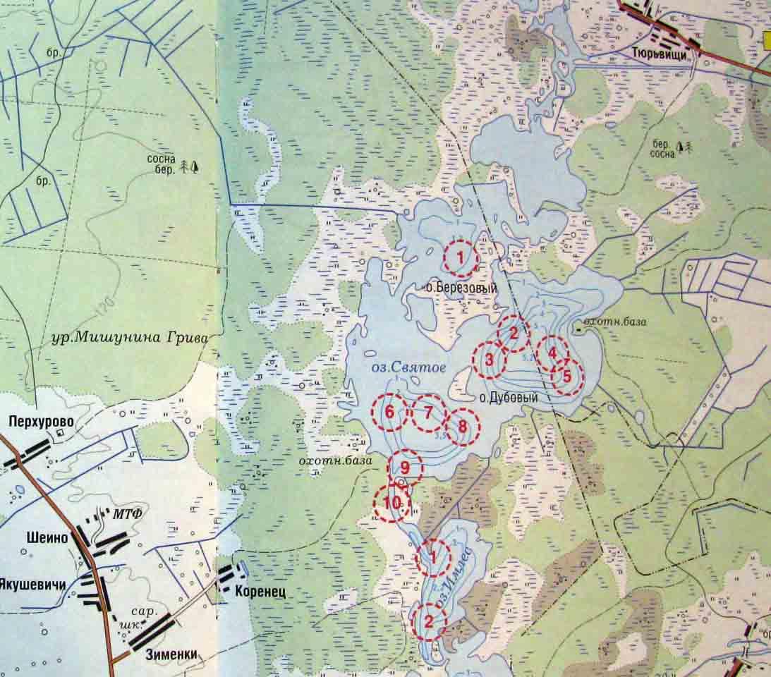 карта места рыбалки ивановская область